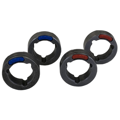 4 Drive Rolls Set For Three Phase Machines 0.030-0.040 Inch Or 0.8-1.0 mm V Groove ( Hard Wire)