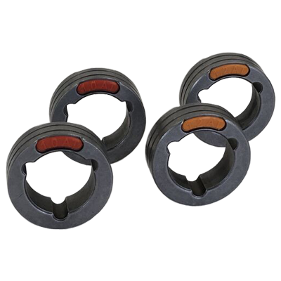 4 Drive Rolls Set For Three Phase Machines 0.040-0.045 Inch Or 1.0-1.2 mm U Groove ( Aluminium)