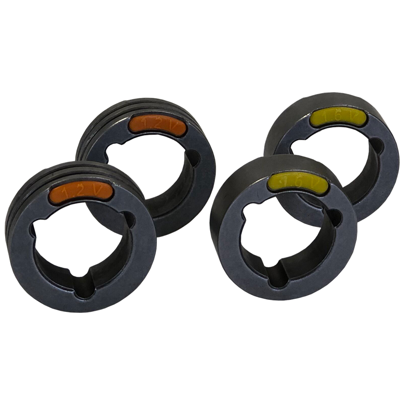 4 Drive Rolls Set For Three Phase Machines 0.045-0.06 Inch Or 1.2-1.6 mm V Groove ( Hard Wire)